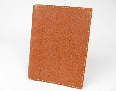 Authentic Hermes Agenda Planner Note Case Cover Chevre Leather r39564
