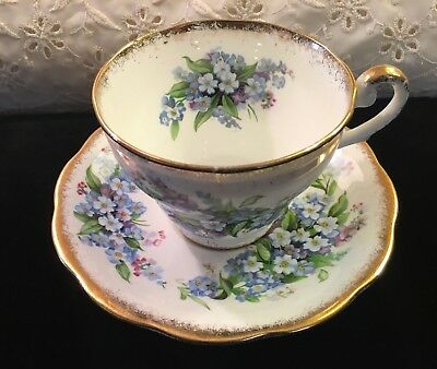 Vintage Royal Standard Forget Me Not Bone China Tea Cup & Saucer
