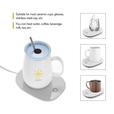 Electric Coffee Mug Warmer Tea Cup Heater For Office Home Use Auto Shut Off A1D9