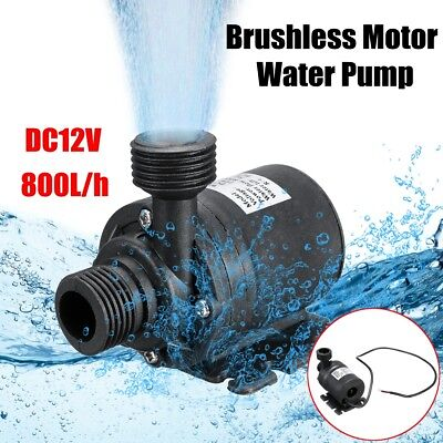 Mini Pompe à Eau Submersible 800L/H Silencieux ascenseur DC 12V 5M Brushless New