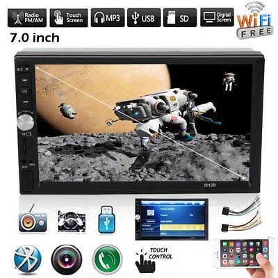 """7"""" Bluetooth Car MP5 Stereo Radio Double 2 DIN HD FM Player Touch Screen USB  TF"""