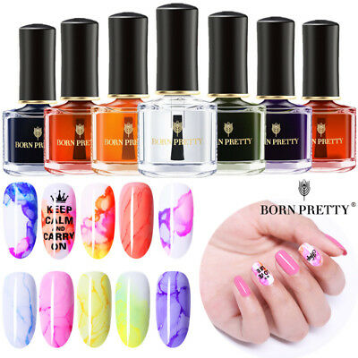 BORN PRETTY Watercolor Gel Nail Polish Marble Phototherapy Ink Smudge Gradient