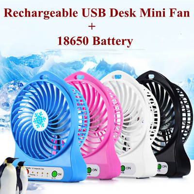 Rechargeable Battery Operated Clip on Mini Desk Fan Stroller Fan with USB Fan AU