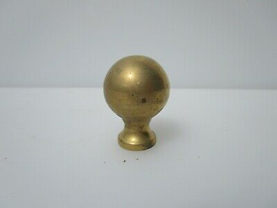 Vintage Brass Finial Furniture Mount Hardware Old Curtain Pole End Ball Knob £4e