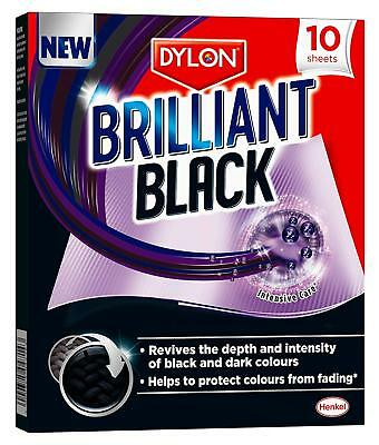 10 Sheet of Dylon Brilliant Black Revive Faded Blacks & Protect From Fading