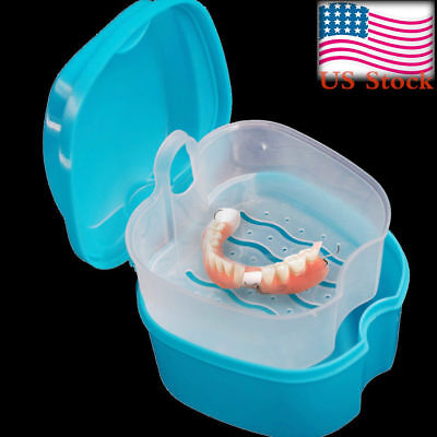 Cheap Price Haicar 1pc High Quality Practical Denture Bath Box Case Dental False Teeth Storage Box With Hanging Net Container Pretty Attractive Designs; Home