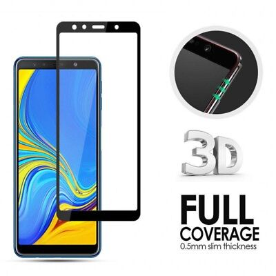 2X Full Coverage Tempered Glass Screen Protector For Samsung Galaxy A7 A9 2018