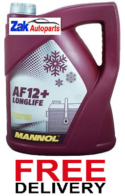 Mannol Longlife Antifreeze Concentrated Coolant Fluid 5 Litre *new*