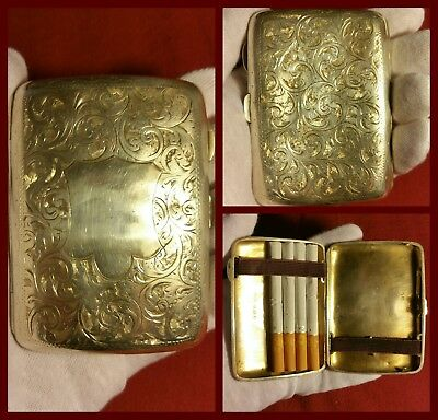 Portasigarette argento inglese - Antique old Edwardian cigarette case 1907