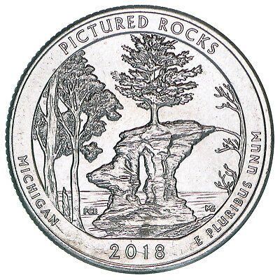 2018 P Parks Quarter ATB Pictured Rocks National Lakeshore BU CN-Clad US Coin