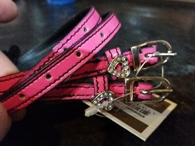 Imperial Riding Pink Patent Spur Straps