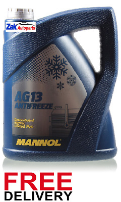 Mannol Hightec Antifreeze Concentrated Coolant Fluid Green 5 Litre *new*