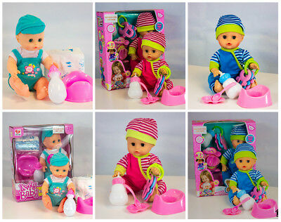 Lifelike Realistic Talking Boy Girl Baby Doll Play Set w/ Accessories Kids Doll