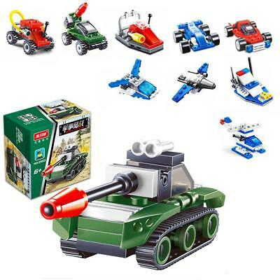 Vehicle Model Blocks Kids Enlightenment Educational Puzzle Assembly Plastic Toys