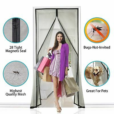 "New Fiberglass Magnetic Screen Door, 36""X83""(90x210CM), Super Strong- US Seller"