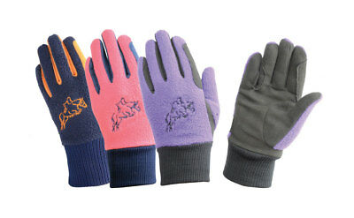 Hy Hy5 Childrens Warm Winter Fleece Two Tone Riding Gloves Various Colours S-XL