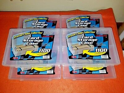 Jammers Six (6) Plastic Card Storage Trading Card Case Box holds 1100+ Plano Mfg