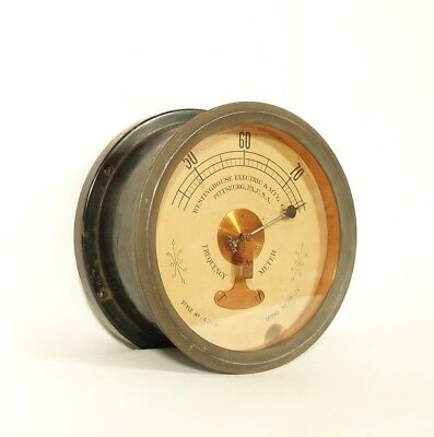 Huge, Uncommon 1890's Westinghouse Electric Frequency Meter * Tesla / Edison Era