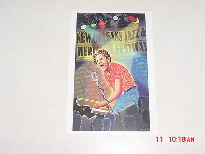 2007 New Orleans Jazz Festival Poster Postcards Jerry Lee Lewis