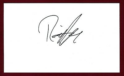 Rick Huckaby Country Music Singer Songwriter Signed 3x5 Index Card C8143