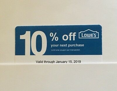 10-Lowe's Blue Card 10% Off For Home Depot+Other Comp Not Lowe's  Exp 06/15/19