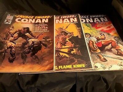 The Savage Sword Of Conan # 7 (1975) #31 and #33 - all very good - GREAT BUY!!