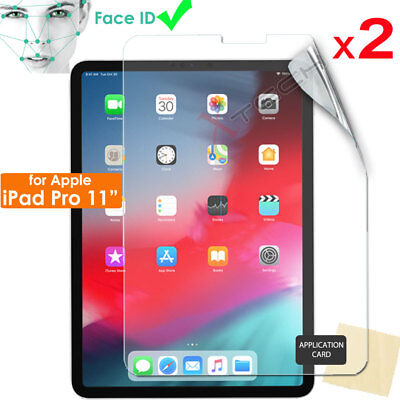 """2x CLEAR Screen Protectors Guards Covers for New Apple iPad Pro 11"""" ( 2018 )"""