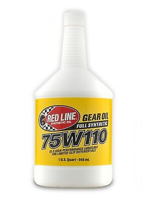 Red Line Synthetic 75W110 GL-5 Gear Oil 1 US Quart (946ml)