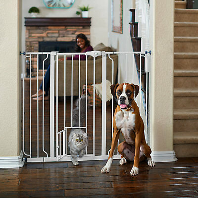 "You & Me Extra-Tall Walk-Thru Pet Gate, 29""-50"" W x 41"" H"