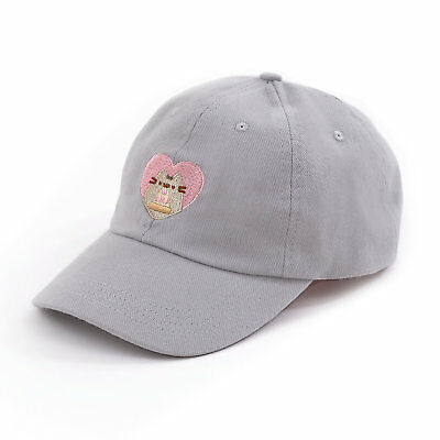 Pusheen Pizza Heart Embroidered Dad Cap