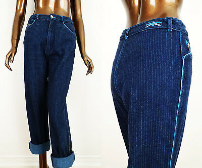 """Vintage 80s PENTIMENTO Jeans High Waisted Pinstriped Womens 28""""W"""