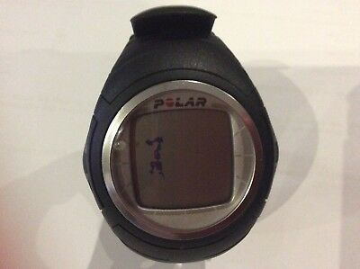 Polar F4 Heart Rate Monitor HRM Fitness Gym Watch Black. For Parts - Not Working