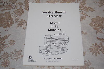 Service Manual on CD for Singer 1425 (& also applicable to 1411) Sewing Machines