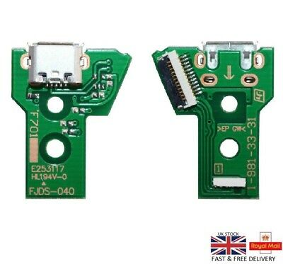 For PS4 Controller USB Charging Port Socket Circuit Board JDS-040 12 Pin UK
