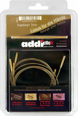 addi Click Cords and Connector for Bamboo Interchangeable Knitting Needles