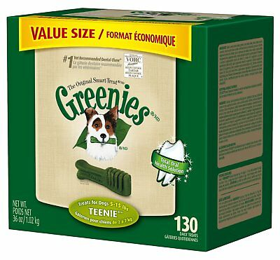 Greenies Original Teenie Size 130 count 36 oz | Dental Chew Treats for Dogs