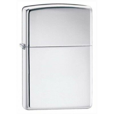 Armor High Polished Chrome Zippo Pipe Lighter W/Pipe Insert 167PL