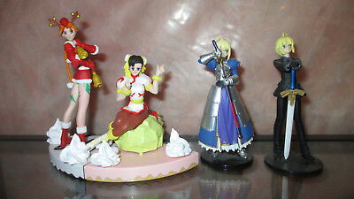 4 Anime Girl Figures Street Fighter V Chun Li Cammy Christmas Fate Stay Saber