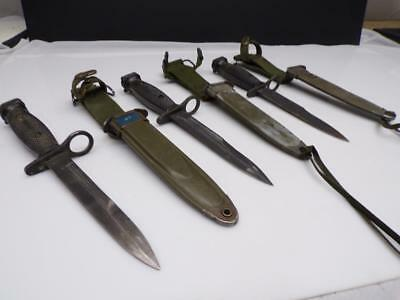 Lot 3 US-Military-Bayonet-Genuine Combat Knife-Scabbard-m7bayonet Imperial D704
