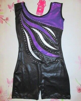 NWT Girls Size 4 6 8 Biketard Child Dance Gymnastics Unitard Leotard SC IC MC L