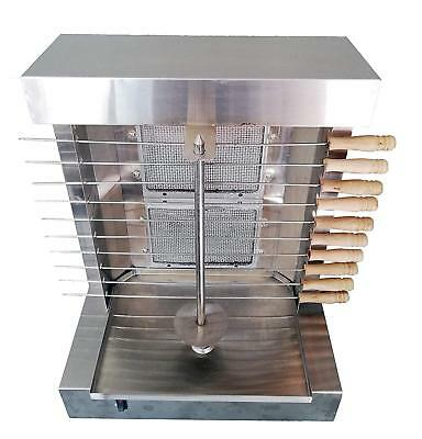 Bioexcel 2 Burners Shawarma Machine Kebab Grill Gas Machine with 10 Kebab Skewer