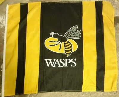 Official Wasps RFU Rugby Football Club Team Large Supporter Flag - NEW