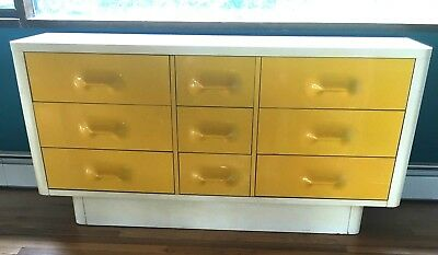 Broyhill Chapter One Loewy Space Age Mid Century Modern Dresser Cabinet Panton