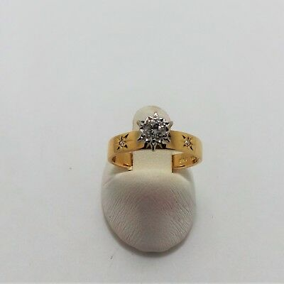 18Ct Yellow Gold Diamond Engagement Ring Valued @$1713 Comes With Valuation