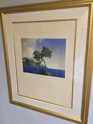 """""""Aquamarine"""" by Maxfield Parrish, 1999 Limited Edition Print in Frame, 32"""" X 38"""""""
