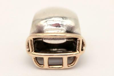 NEW PANDORA FOOTBALL Helmet Charm - Sterling Silver 14k Yellow Gold ... 6a89bdc91