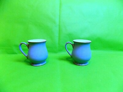 Denby Colonial Blue Craftsman Mugs x 2