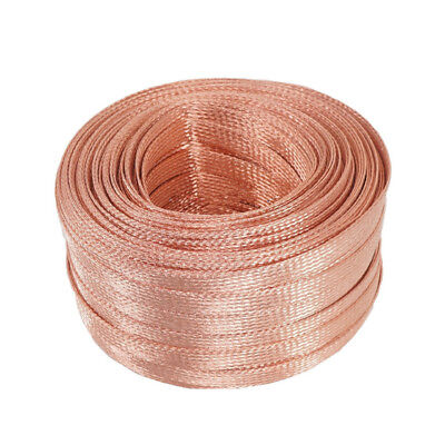 Flat Tinned Copper Braid Sleeve Screening Tubular Cable DIY audio power cable