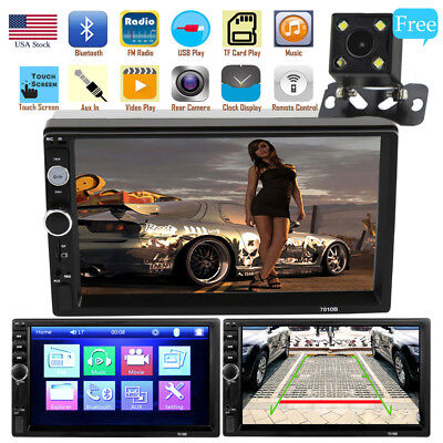 "HD 7"" Double 2Din Bluetooth Car Stereo Radio MP5 Player Touch Screen+Rear Camera"