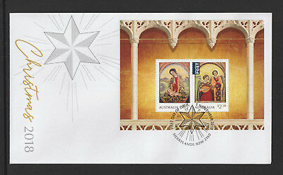 Australia 2018 : Christmas 2018, First Day Cover with Minisheet. Mint Condition